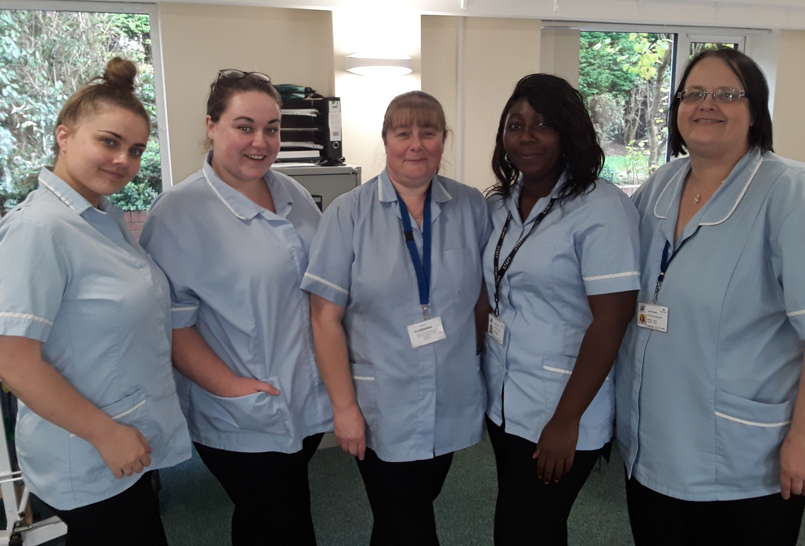 Team of female Care Support Workers
